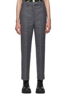 Prada Grey Plaid Look 11 Trousers