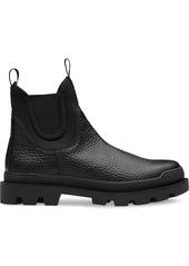 Prada Hammered leather booties