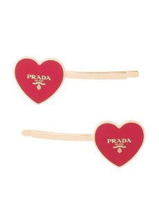 Prada heart hair pins