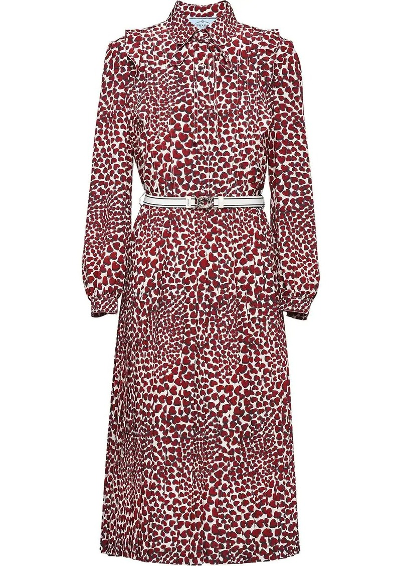 Prada heart print dress