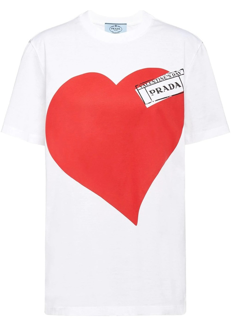 Prada heart print T-shirt