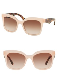 Prada Heritage 53mm Square Sunglasses