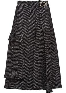 Prada herringbone high-waisted skirt