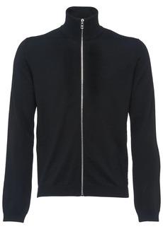 Prada high neck zip front cardigan