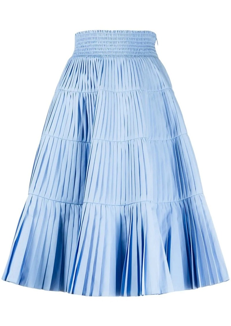 Prada high waist pleated skirt