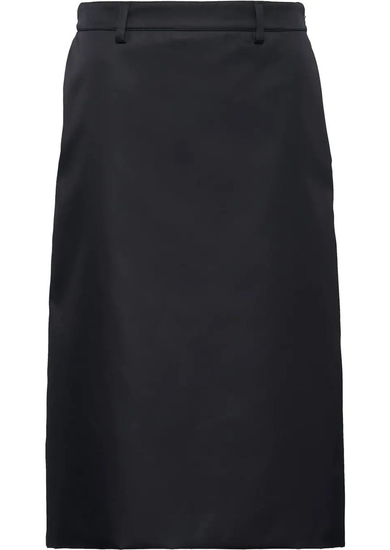 Prada high waisted a-line skirt