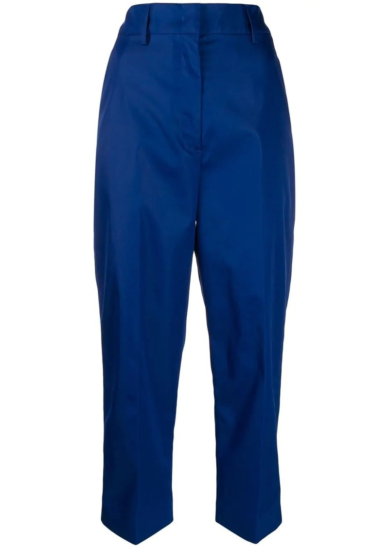 Prada high waisted cropped trousers