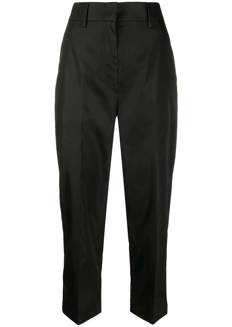 Prada high-waisted cropped trousers