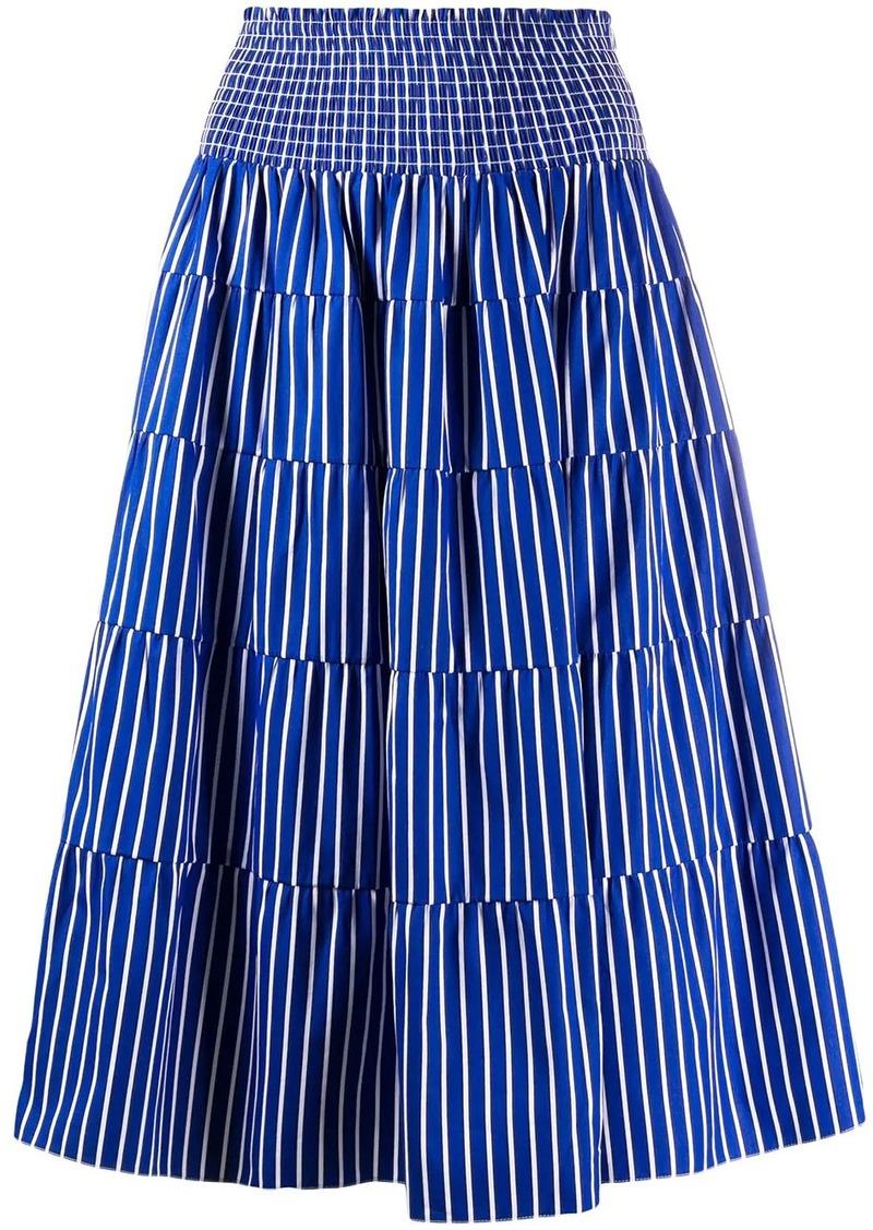 Prada high-waisted striped skirt