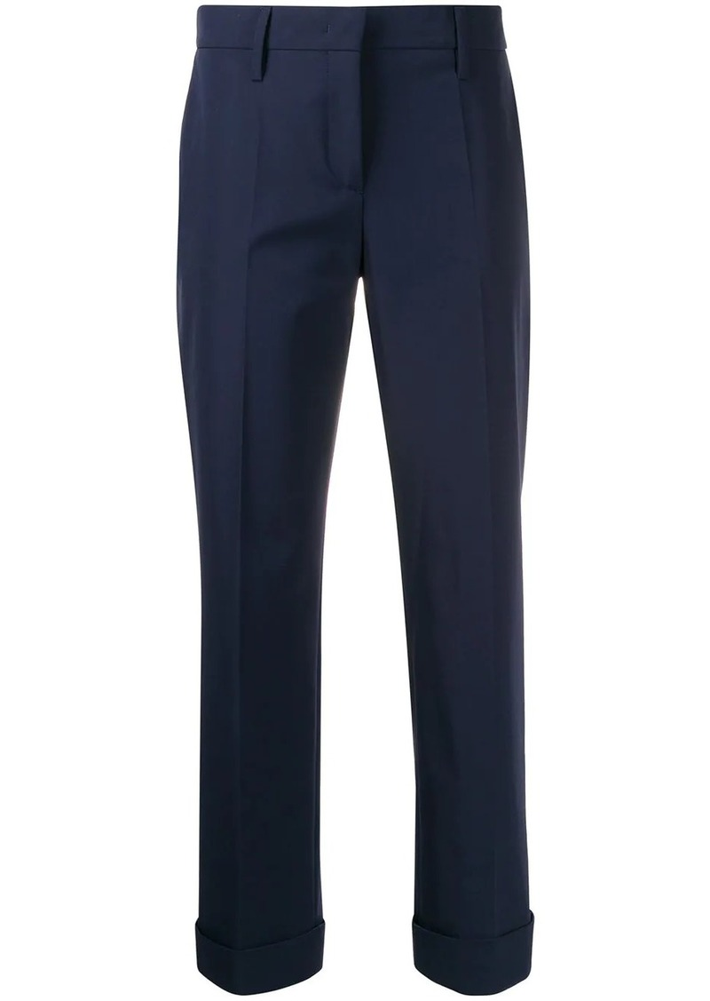 Prada high waisted tapered leg trousers