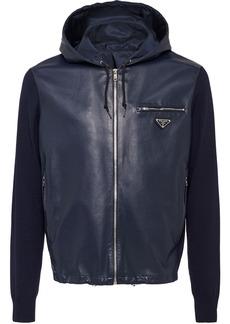 Prada hooded bi-material jacket