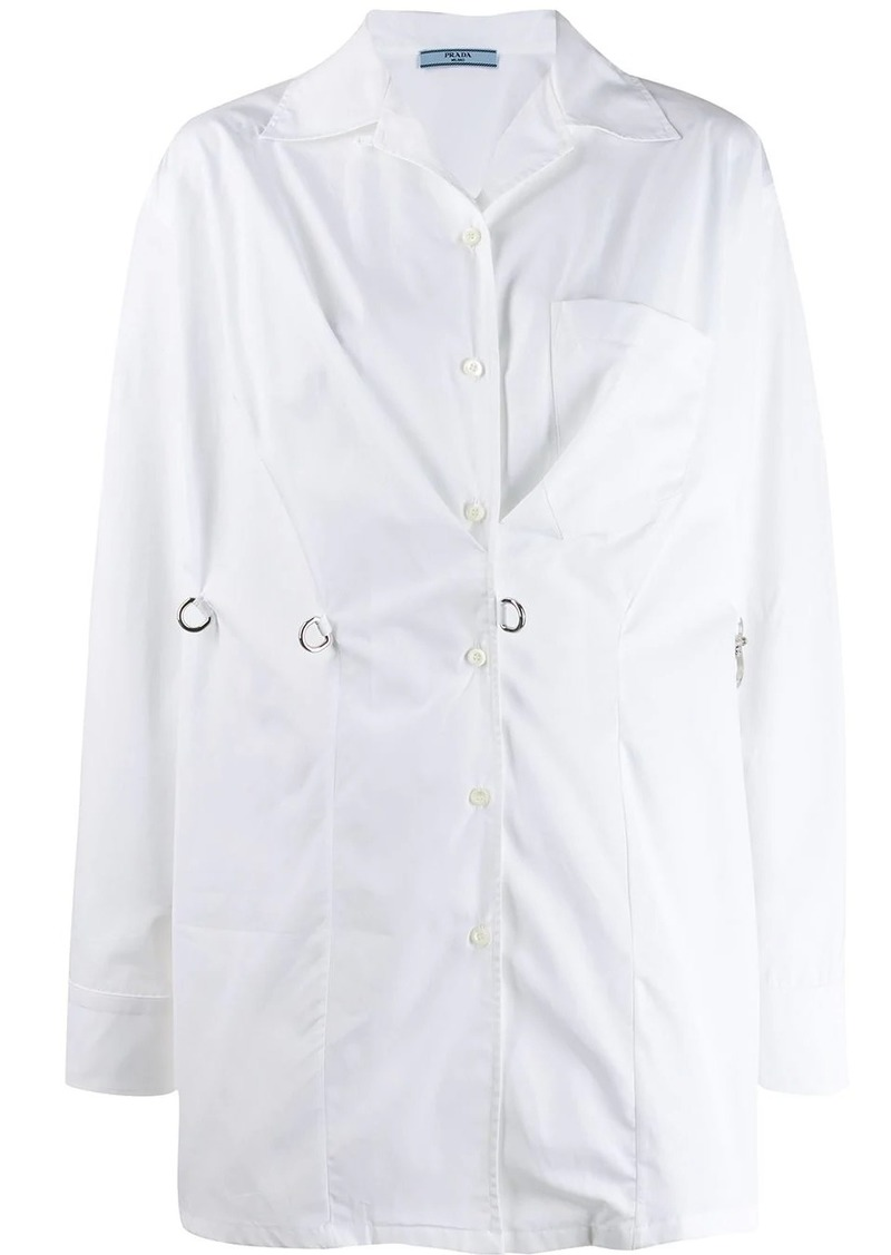 Prada hook fastening shirt