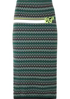 Prada Intarsia-knit Skirt