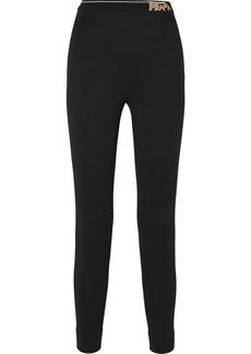 Prada Intarsia-trimmed Tech-jersey Leggings