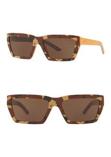 Prada Camo Geo 57mm Rectangle Sunglasses