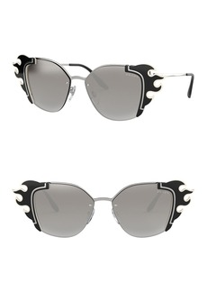 Prada Irregular 64mm Cat Eye Sunglasses