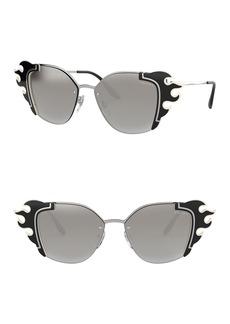 Prada Irregular 64mm Cat Eye Sunglasses