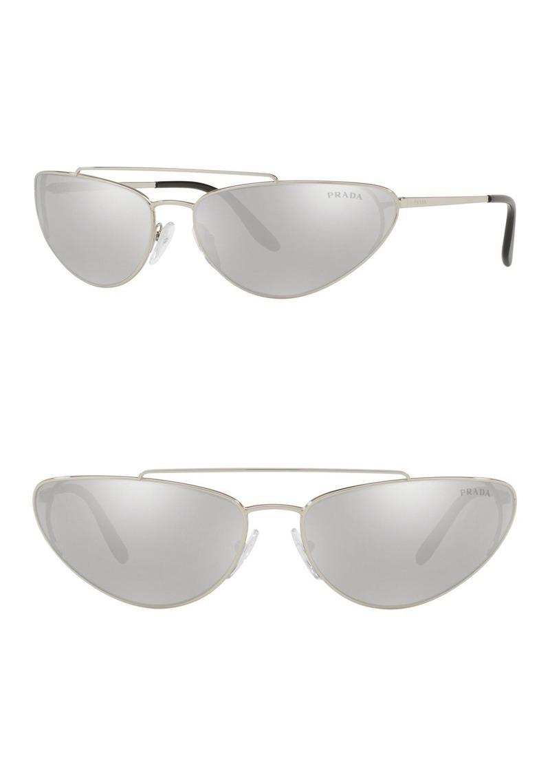 Prada Irregular 66mm Cat Eye Sunglasses