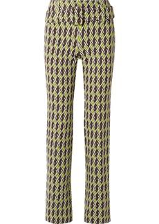 Prada Jacquard-knit Straight-leg Pants