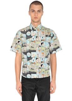 Prada James Jean Poplin Short Sleeve Shirt