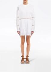 Prada Jersey and crepe de chine dress