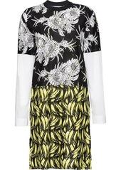 Prada floral and banana print dress
