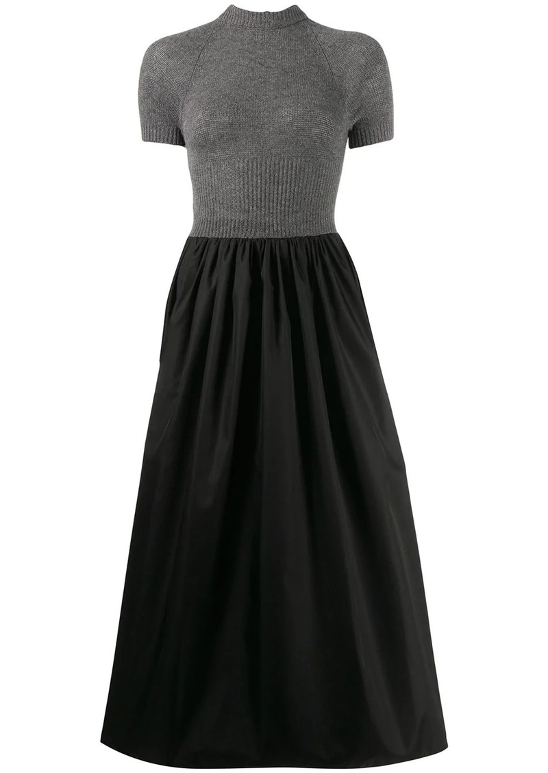 Prada jumper panelled dress