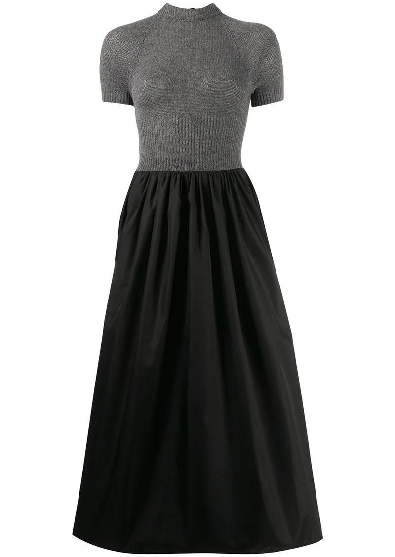Prada jumper panelled dress