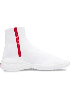 Prada Knit fabric high-top sneakers