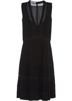 Prada lace insert dress