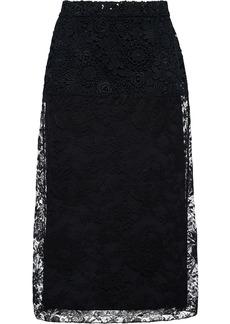 Prada floral lace midi skirt