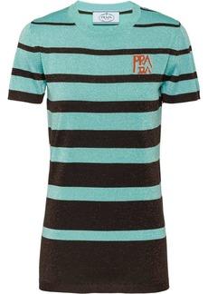 Prada lamé wool T-shirt