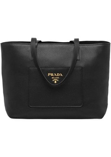 Prada large leather tote