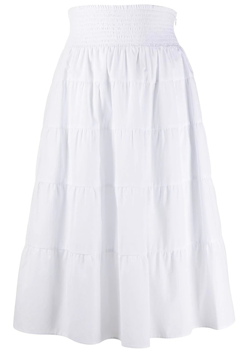 Prada layered mid-length skirt