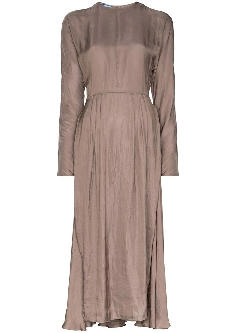 Prada layered midi dress