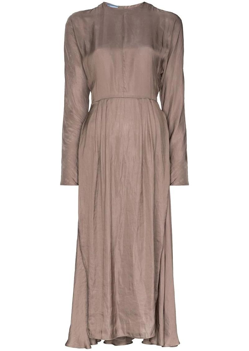 Prada layered midi dress