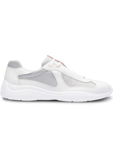 Prada Leather and technical fabric sneakers
