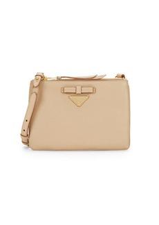 Prada Bow Logo Leather Crossbody Bag