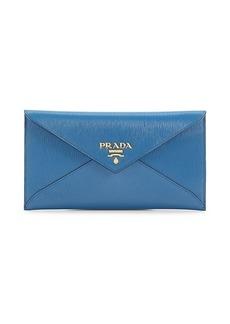 Prada Leather Envelope Clutch