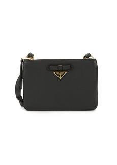 Prada Leather Logo Crossbody Bag