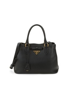 Prada Leather Logo Satchel