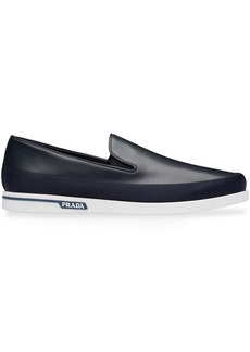 Prada leather slip-on sneakers
