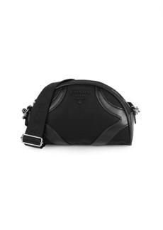 Prada Leather-Trim Dome Bag