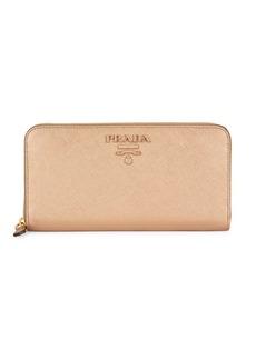 Prada Leather Zip Around Wallet