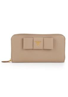 Prada Leather Zip-Around Wallet