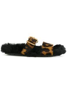 Prada leopard buckle sandals