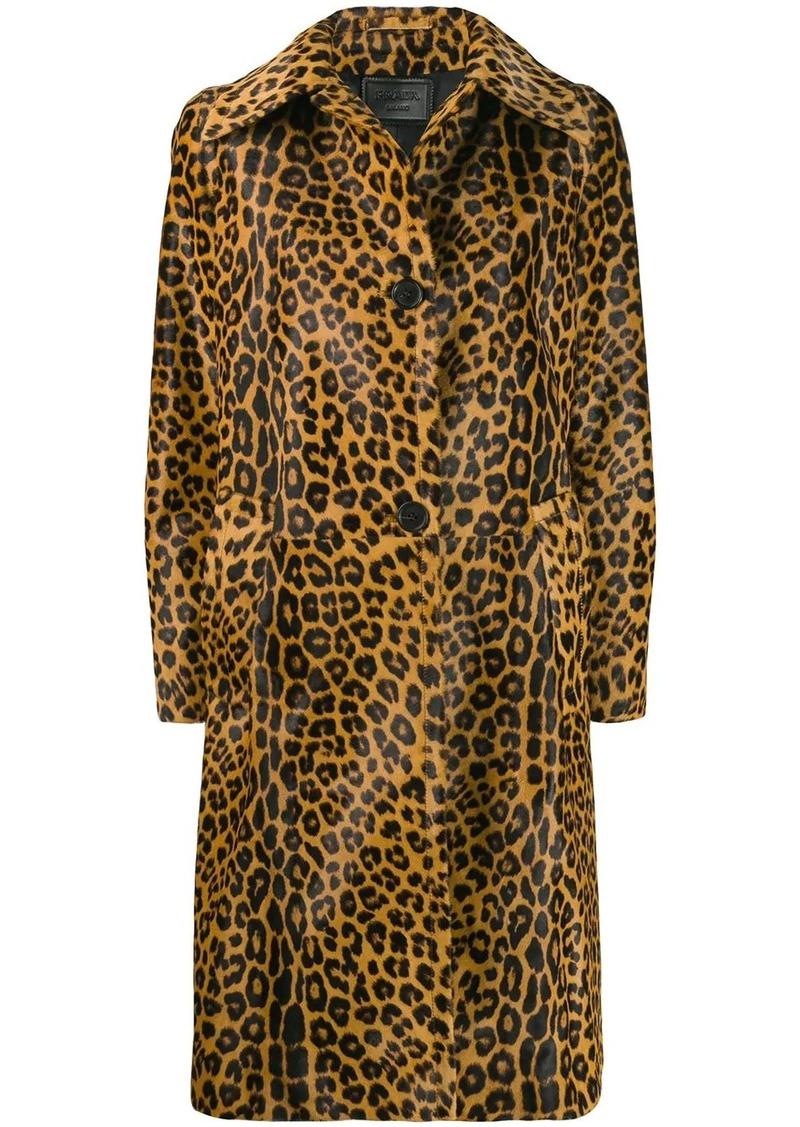Prada leopard print coat