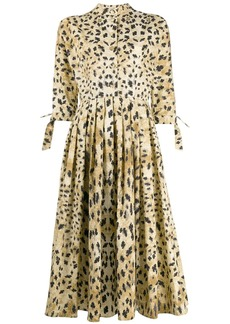 Prada leopard print shirt dress