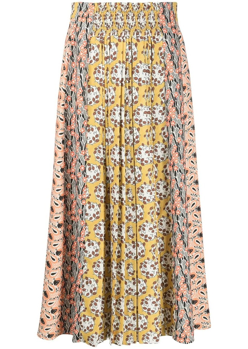Prada Liberty pleated long skirt