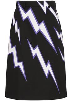 Prada lighting bolt print skirt